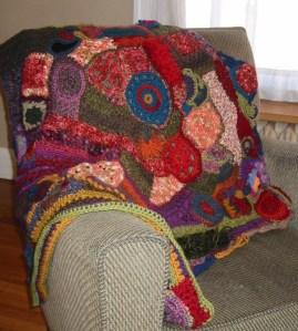 crazy crochet afghan