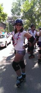 total Pamdemonium ready to skate the parade!