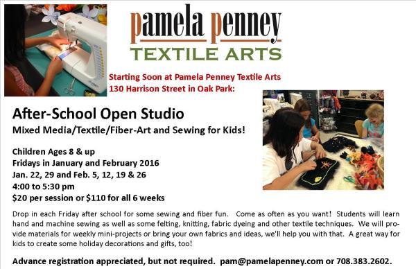 Winter 2016 Open Studio Flyer